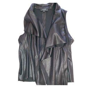 Karen Kane Vegan Leather Asymmetrical Vest